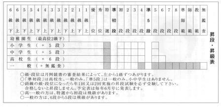 ペン時代_段位級位表