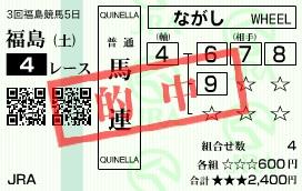 1116福島4(馬連)