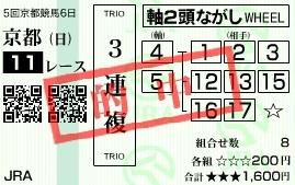 1117京都11(三連複2)