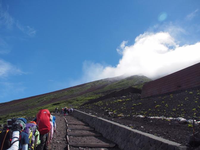 富士山頂に向けて出発