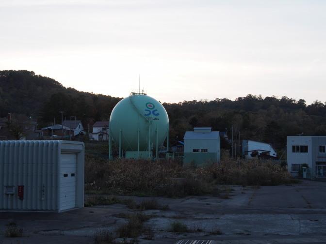 北ガスのガスタンクが目印