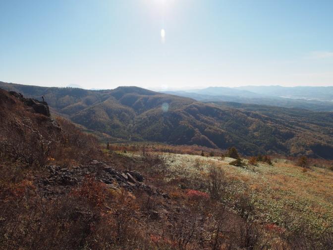 岩の上からの景色(ニセコ方面)