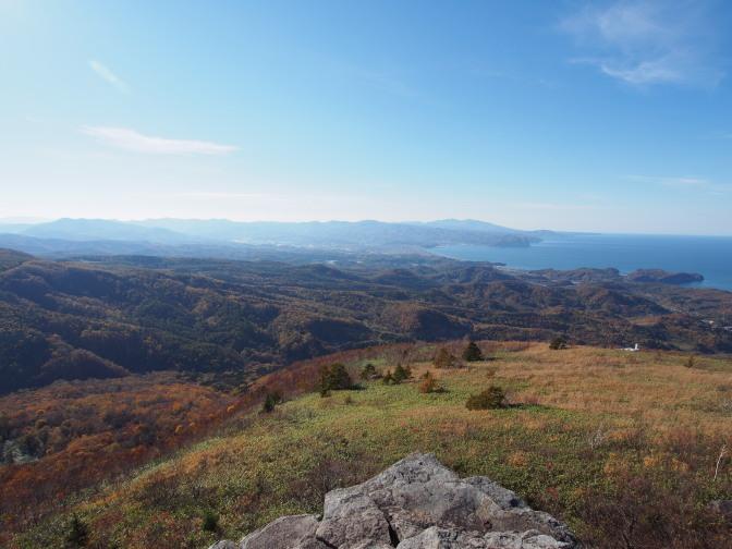 崖からの眺望(積丹岳)