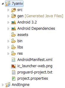 プロジェクトのファイル構成