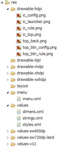 resのファイル構成