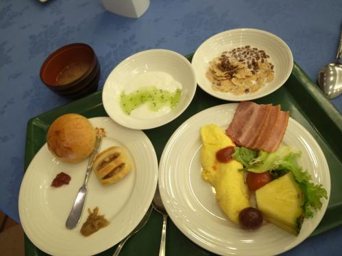 1日目に取ってきた朝食