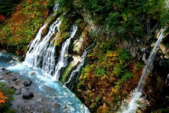 美瑛・白髭の滝。