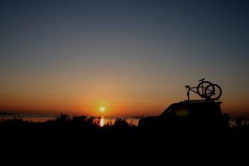 尾岱沼の朝焼けです。