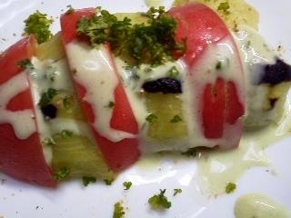 トマトとナスのサラダ