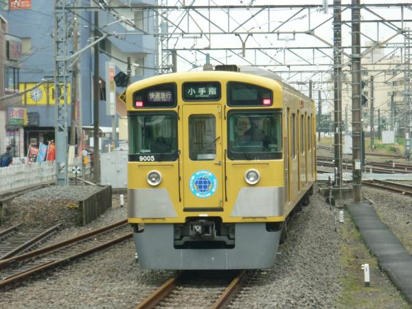 西武9105F 快速急行小手指行き2 2013-03-30