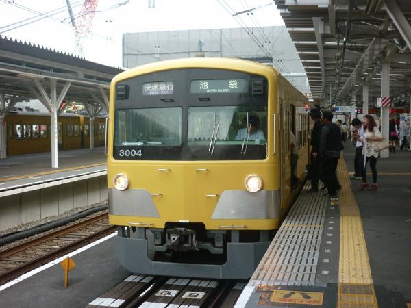 西武3003F 快速急行池袋行き 2012-09-28