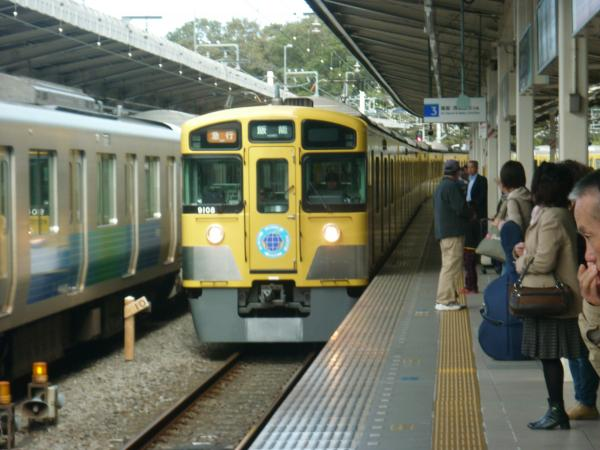 西武9108F 急行飯能行き 2012-11-03