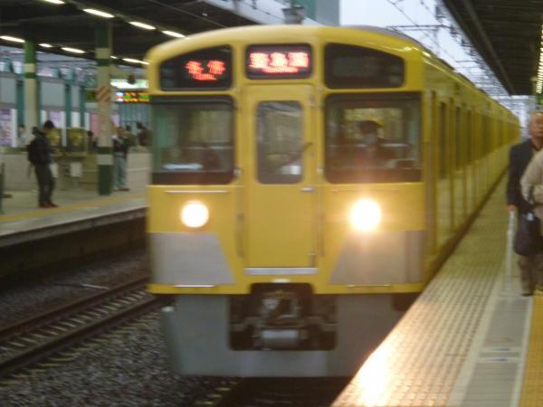 西武2073F 各停豊島園行き 2012-11-17