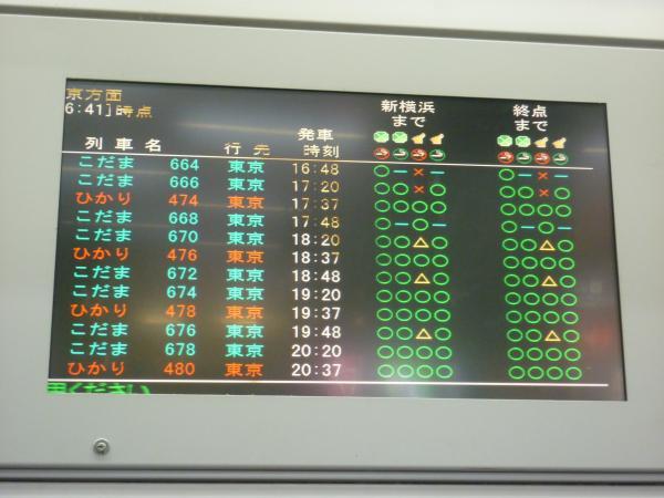 2013-05-04 東海道新幹線 上り 空席状況1