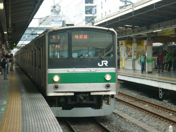 2013-06-23 埼京線205系ハエ32編成 快速川越行き