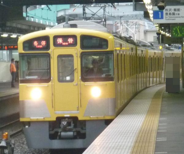 西武2073F 各停保谷行き 2012-11-17