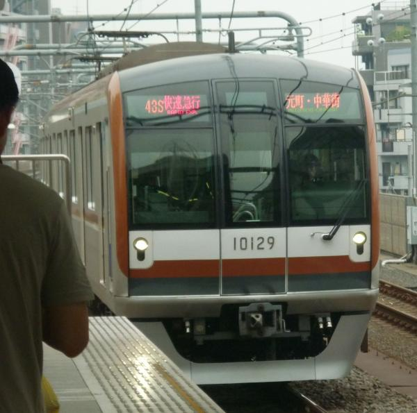 2013-07-13 メトロ10129F 快速急行元町・中華街行き
