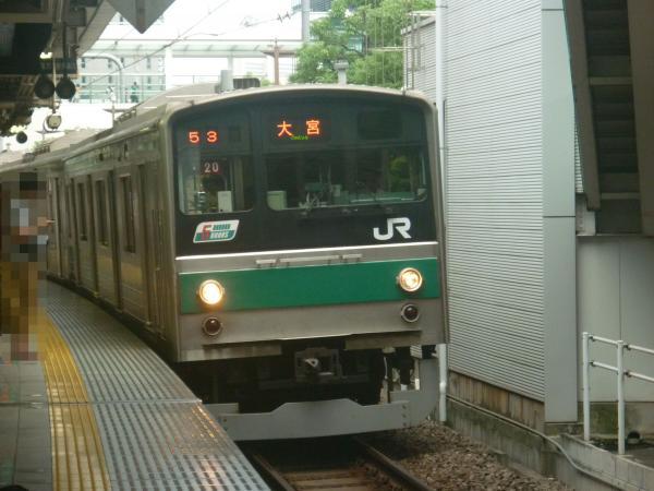 2013-07-28 JR205系ハエ20編成 大宮行き1