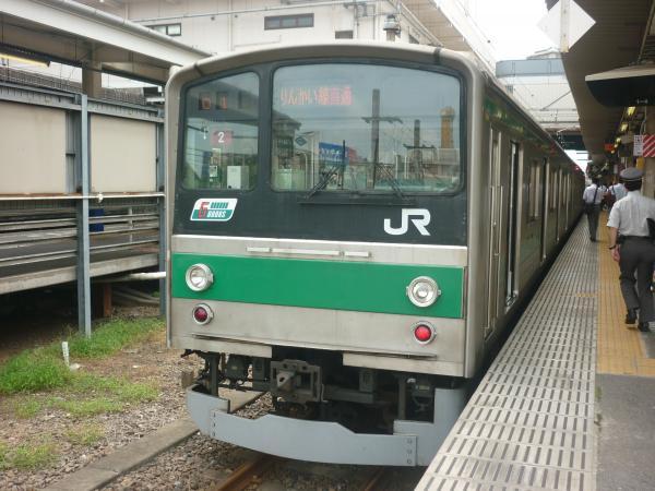 2013-08-04 埼京線205系ハエ2編成 快速新木場行き1
