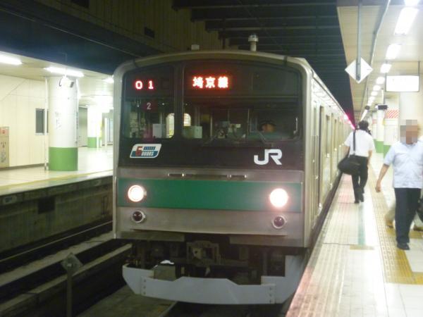 2013-08-04 埼京線205系ハエ2編成 川越行き1