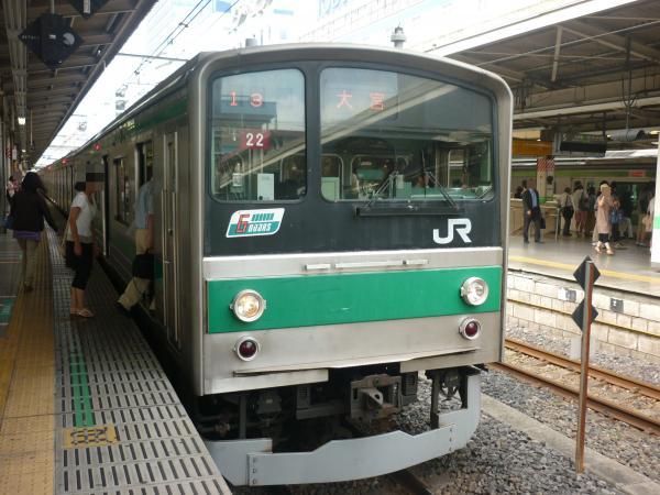 2013-08-04 埼京線205系ハエ22編成 大宮行き3