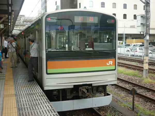 2013-08-25 八高線205系ハエ82編成 川越行き2
