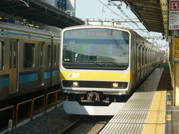 2013-09-21 中央・総武線E231系ミツB30編成 千葉行き1