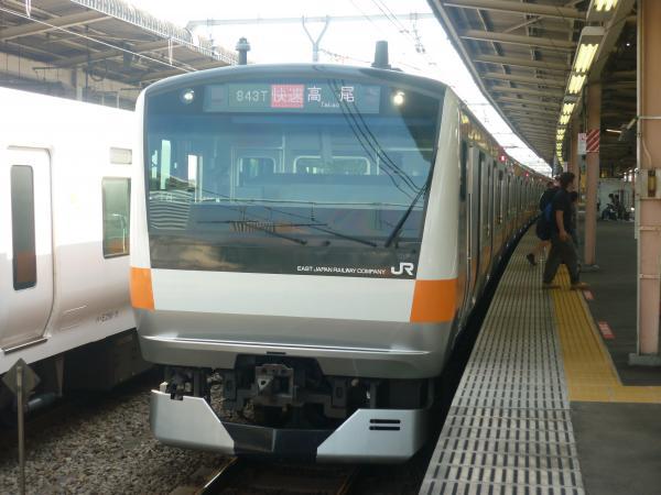 2013-09-21 中央線E233系トタT8編成 快速高尾行き