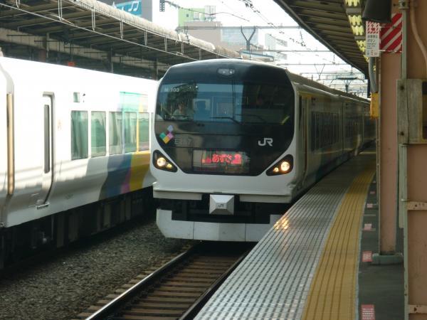 2013-09-21 中央本線E257系 あずさ号松本行き1