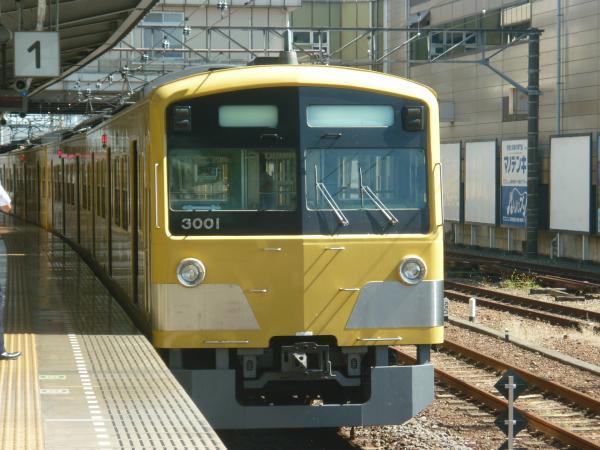 2013-09-28 西武3001F 方向幕回転中