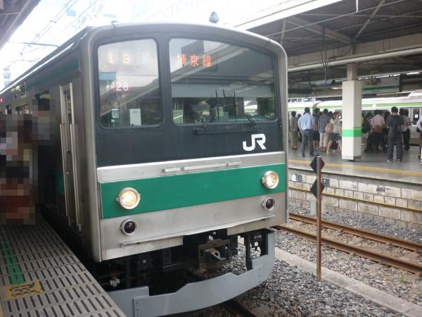 2013-06-23 埼京線205系ハエ28編成 快速川越行き