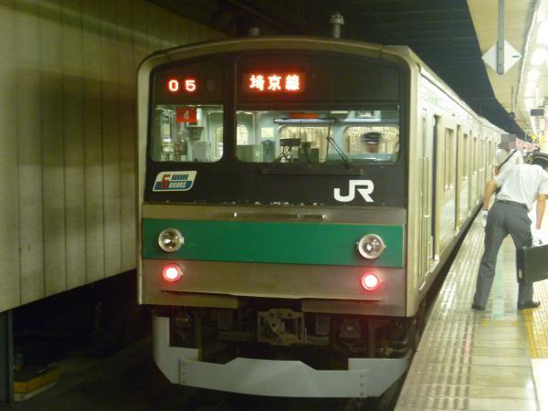 2013-08-04 埼京線205系ハエ4編成 川越行き1