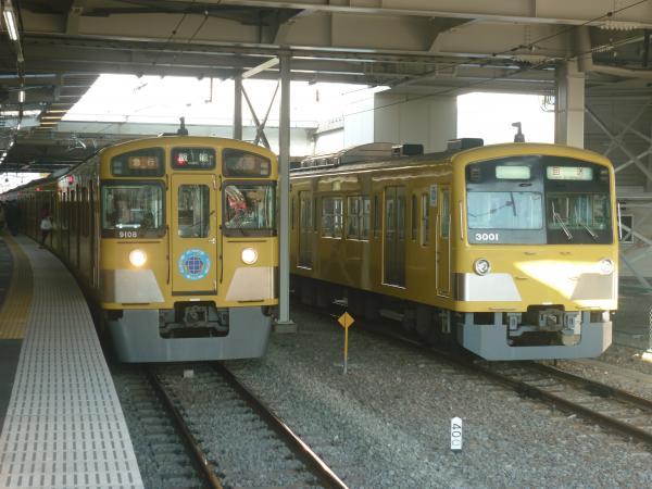 2013-11-16 西武9108F 急行飯能行き 3001F 回送