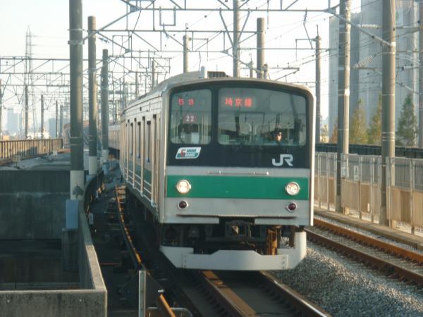 2013-11-24 埼京線205系ハエ22編成 快速川越行き2