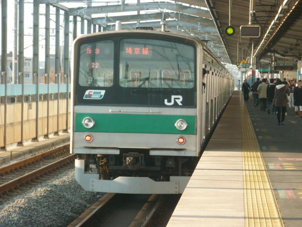 2013-11-24 埼京線205系ハエ22編成 快速川越行き3