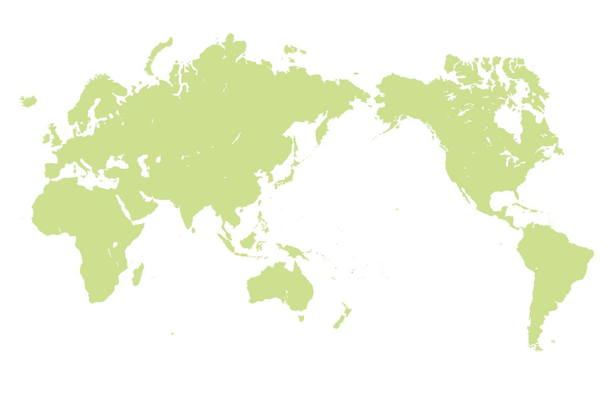 Japan Centric World Map : 世界地図 名前 : 世界地図