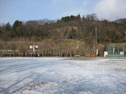 関ケ原合戦 笹尾山 決戦地 雪