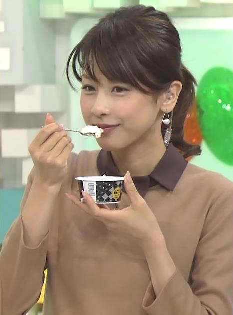 加藤綾子 食べているトコロキャプ・エロ画像2