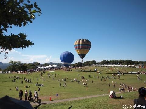 鹿野高台で熱気球7