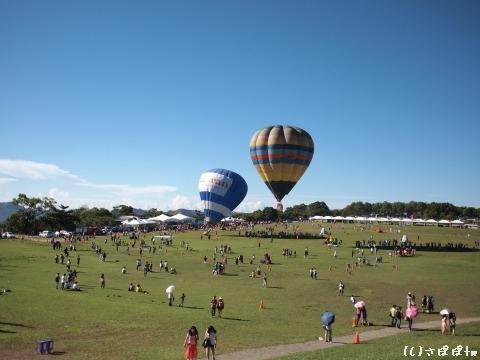 鹿野高台で熱気球8
