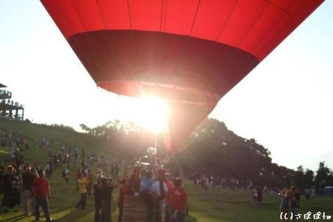 鹿野高台で熱気球25