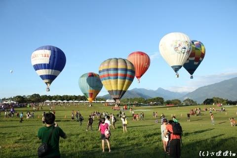 鹿野高台で熱気球26