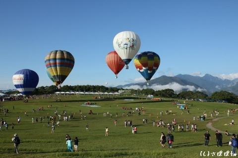 鹿野高台で熱気球27