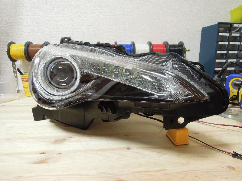 FT86 ヘッドライト加工 イカリング