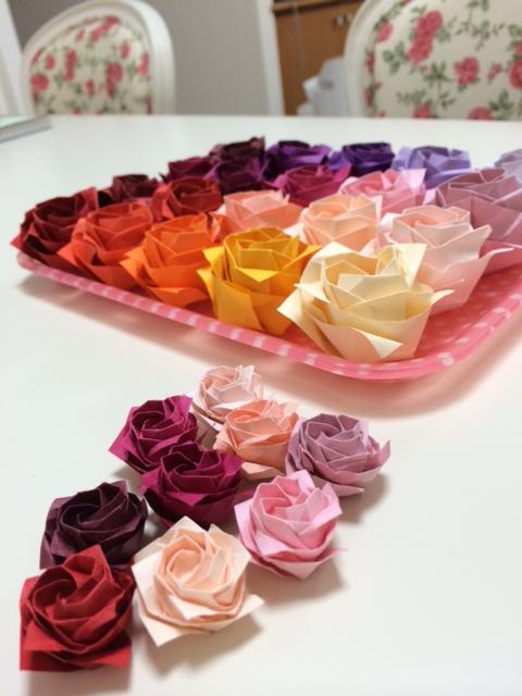 飛行機 折り紙:折り紙 バラ 花束-shirayukilf.blog.fc2.com
