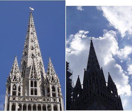 カンペール 複合大聖堂の尖塔