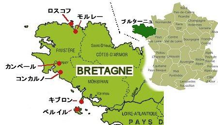 ブルターニュの地図2014