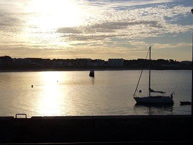 ベルイル ルパレ港の夕暮れdownsize