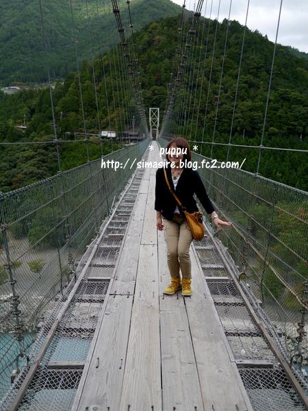 谷瀬の吊り橋①