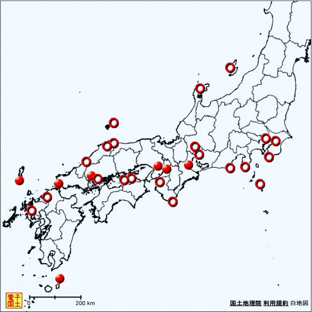 2013年8月9日 最低気温が27度超の地点